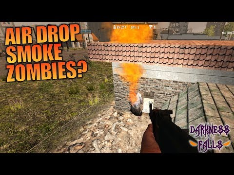 AIR DROP SMOKE ZOMBIES? | Darkness Falls MOD 7 Days to Die | Let's Play Gameplay Alpha 16 | S01E07