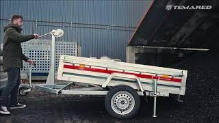 Prakti Dumper - przyczepa z ręcznym wywrotem, DMC do 750kg