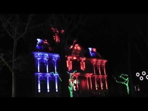 Cambridge, Ohio Courthouse Light Show
