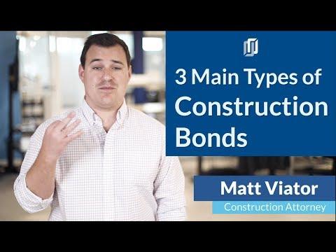 3 Main Types of Construction Bonds: Bid Bonds, Performance Bonds, and Payment Bonds