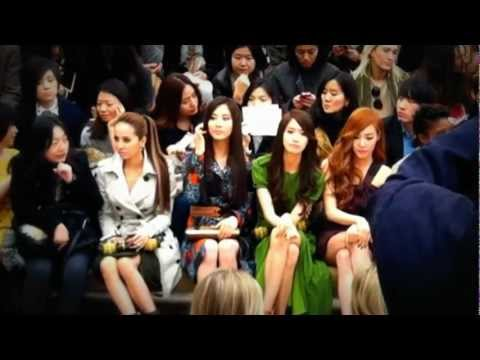 SNSD's Seohyun, Yoona, And Tiffany At Burberry Fashion Show In London