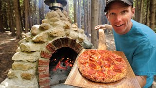 Building a Rock Pizza Oven! | Primitive Cooking at the off Grid Cabin