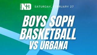 PND Boys Soph Basketball vs Urbana
