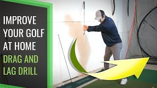 GOLF SWING TRAINING TO STOP CASTING | AT HOME WALL DRAG DRILL