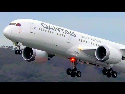 AMAZING 20+ MINUTES of Plane Spotting at Melbourne Airport | CLOSE UP Takeoffs & Landings