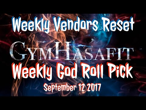 Destiny 1 | Weekly Reset | Vendor God Rolls | September 12 2017