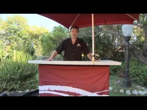 Portable Outdoor Bar | Backyard Tailgating Bar - YouTube