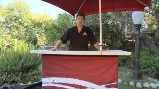 Portable Outdoor Bar | Backyard Tailgating Bar