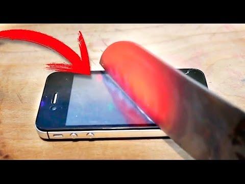 EXPERIMENTO Cuchillo Caliente VS iPhone (BayBaeBoy Vlogs)