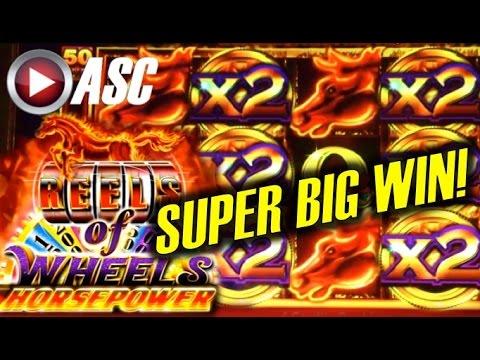 ★ SUPER BIG WIN! ★ REELS OF WHEELS HORSEPOWER - Slot Machine Bonus (Ainsworth) - 동영상