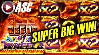 ★ SUPER BIG WIN! ★ REELS OF WHEELS HORSEPOWER | Slot Machine Bonus (Ainsworth)