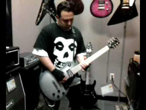 Poker Face guitarist Ryan Baller at Best Buy playing the Gibson RAW POWER