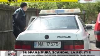 suspans dupa scandal la politie