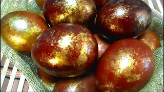 How to BEAUTIFULLY paint EGGS for EASTER in onion husks I GOLDEN Easter EGGS I EASTER 2021