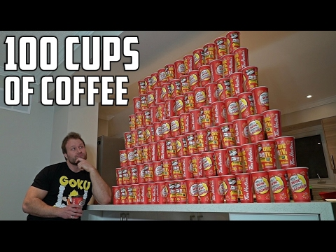100 CUPS OF COFFEE ROLL UP EXPERIMENT!