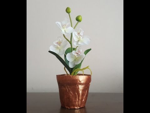 paper mache flower pots
