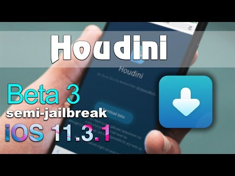 Houdini beta 3 semi-jailbreak for your iOS 11.3.1