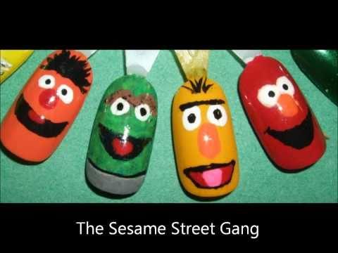 Sesame Street Nail Tutorial Youtube