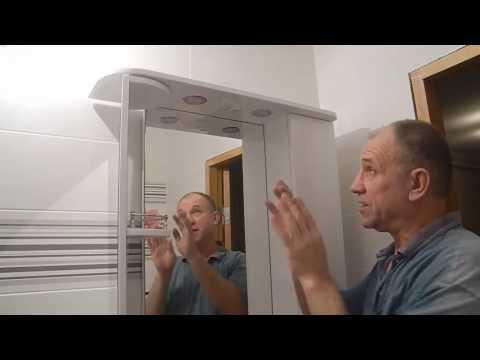 Устанавливаем шкаф-зеркало в ванной ч.1