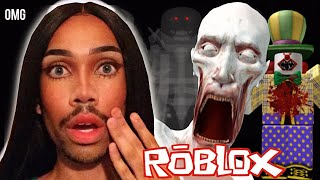"""playing """"scary"""" games on roblox!"""