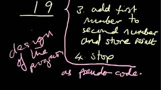 pseudo-code simple example - part 1