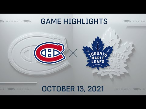 NHL Highlights | Canadiens vs. Maple Leafs - Oct. 13, 2021