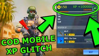 COD MOBILE XP GLITCH! How to LEVEL UP FAST in COD MOBILE! COD MOBILE GLITCHES! GLITCH COD MOBILE!