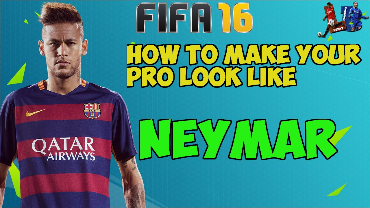 FIFA 16 How To Make Your Pro Look Like Neymar Jr New Haircut SHAVED