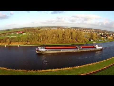 Aquaduct Mid-Fryslan bij Grou (Friesland)