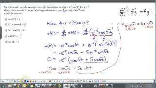 Derivatives of Transcendental Functions: EX1