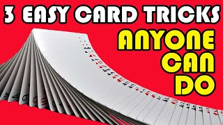 3 Easy Card Tricks ANYONE CAN DO!