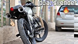 Modified dual silencer (exhaust ) under the seat | modified splendor 🔥