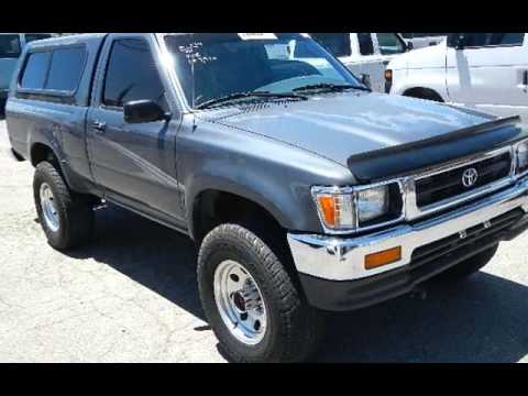 Toyota R22 For Sale >> 1994 Toyota Tacoma Regular Cab 4x4 R22 5spd. w Shell for sale in Riverside, CA - YouTube