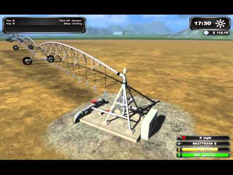 How to use Pivot Irrigation System for Farming Simulator 2011 - Video