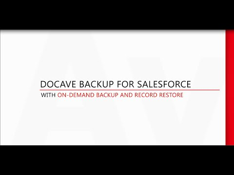 Demo: Backup Salesforce and Restore Salesforce with DocAve