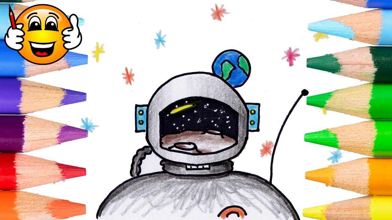 coloring pages for kids astronaut coloring book videos