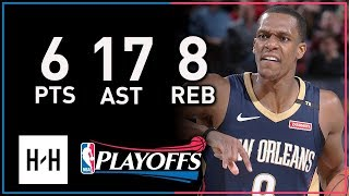 Rajon Rondo Full Game 1 Highlights Pelicans vs Blazers 2018 Playoffs - 6 Pts, 8 Reb, SICK 17 Assists