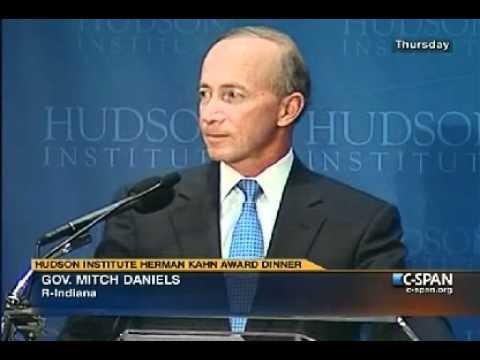 Gov. Daniels receives Hudson Institute