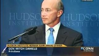 Gov. Daniels receives Hudson Institute