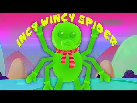 Incy Wincy แมงมุม | เพลงเด็ก | เพลงก่อนวัยเรียน | Rhymes In Thai | Jelly Bears | Incy Wincy Spider