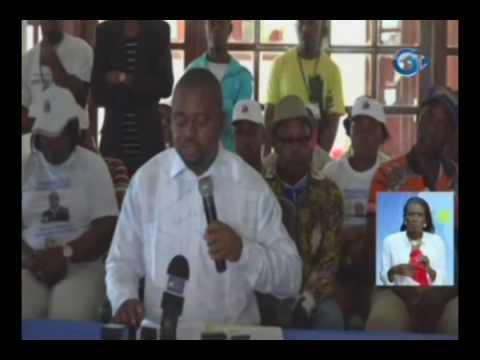Point de presse de Gerard Ella NGuema candidat à l'election présidentielle