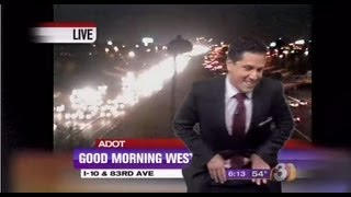 Phoenix morning news Anchor can't contain himself when his 'song' is played