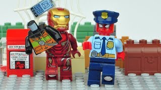 LEGO SPIDER MAN & IRON MAN POLICE Changing Hero Costumes