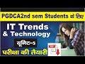 PGDCA 2nd Sem माखनलाल यूनिवर्सिटी परीक्षा की तैयारी  IT Trends and Technology Unit-5