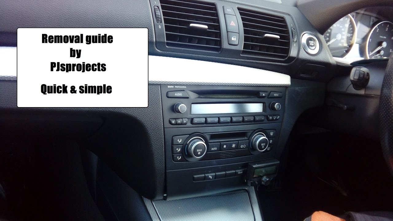 bmw 1 series radio quick removal refit guide steering. Black Bedroom Furniture Sets. Home Design Ideas