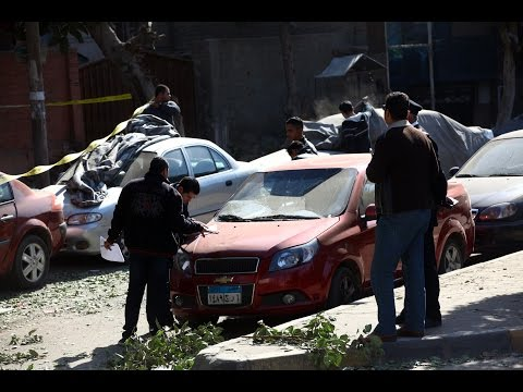 Raw: Six Egypt police killed in checkpoint blast in Cairo
