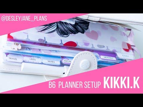 Final (for now) kikki.K B6 planner setup