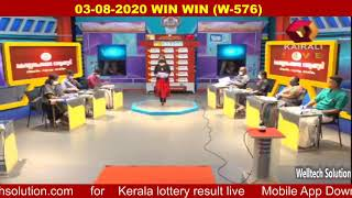 1) 03-08-2020 Win Win (W-576) lottery result today, Kerala lottery result 03-08-2020