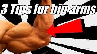 3 tips to get HUGE arms in the Gym