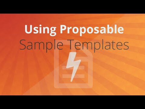 Using Proposable Sample Templates Tutorial Youtube